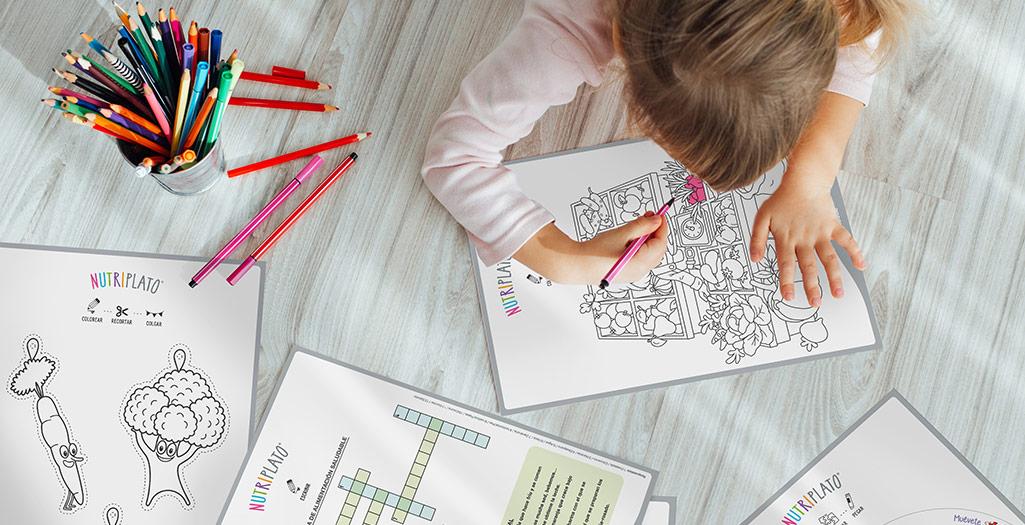 Actividades de alimentación para niños y juegos descargables