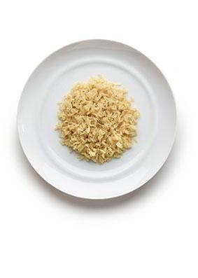 3-6 años: Arroz, cuscús o quínoa 7-8 cucharadas soperas en cocido. 50-60 gramos en crudo