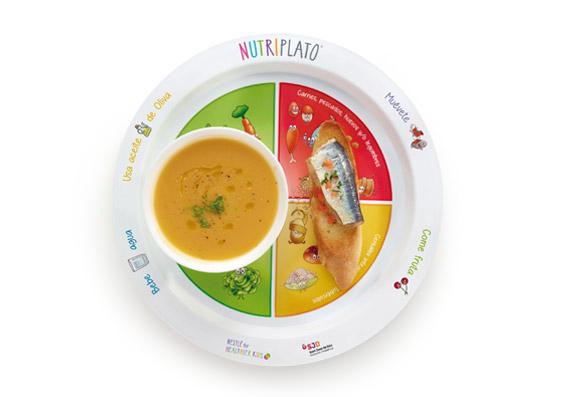 Receta: Crema de calabaza y zanahoria con pincho de sardinas