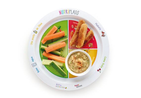 Receta: Hummus con fingers de pavo