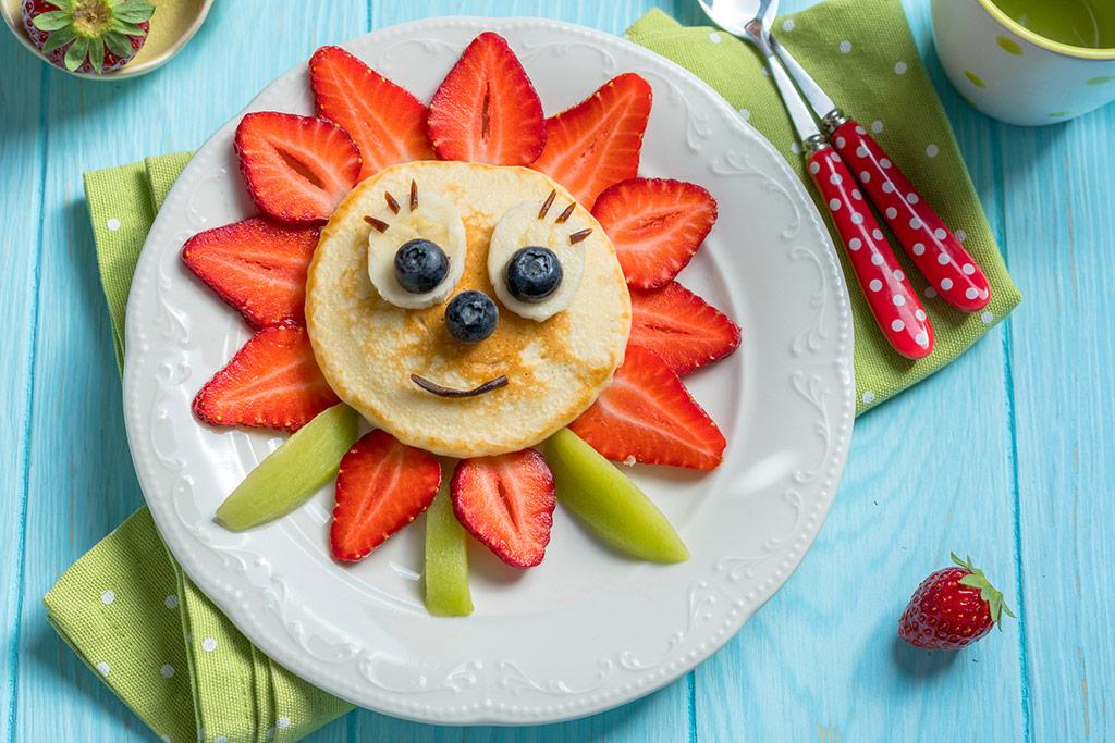 Imagen de un plato de comida con forma de flor