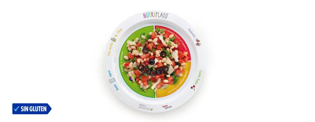 Plato de ensalada tricolor